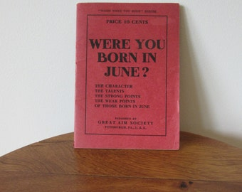 Booklet - Were You Born In June? - 1909