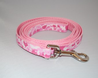 6 Foot Pink Camo Dog Leash