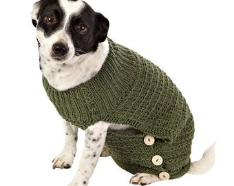 Doggy Coat/ Jacket Hand Knitted in Bamboo wool