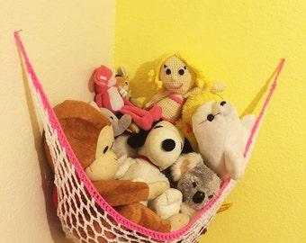 Stuffed Animal Hammock Toy Storage Solution / Toy Organizer / Nursery Organizer / Nursery Storage/ Baby Shower Gift / Small Space Organizer