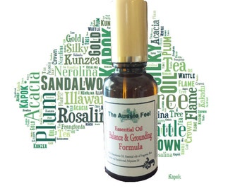 Balance & Grounding Australian Essential Oil blend with Fragonia, Blue Cypress and Sandalwood. 30mls