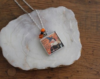 Halloween soldered necklace