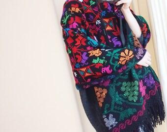 Mexican scarf wrap poncho