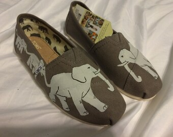 Elephant - Custom Hand Painted Toms