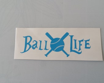 BASEBALL LIFE Vinyl Decal .. FREE Shipping Yeti Softball Moms Little League School Pony T-Ball Wine Glass Beer Mug Frame Sports Bottle
