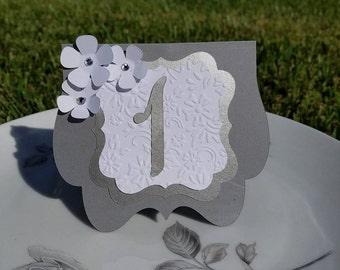 Beautiful Wedding table numbers