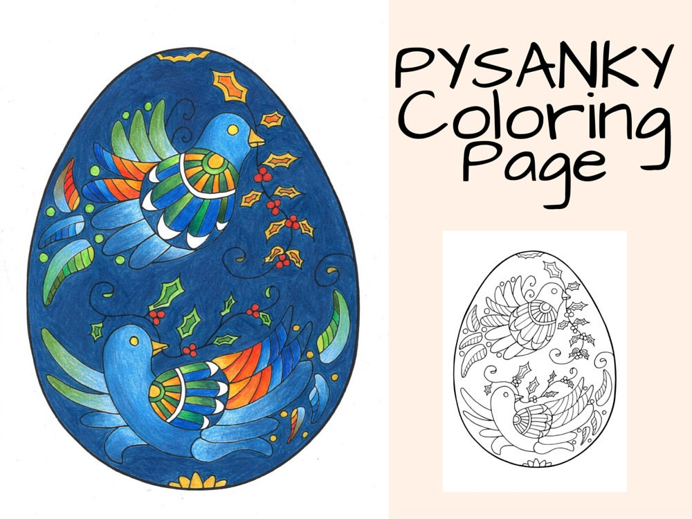 pysanky egg coloring pages - pysanky egg coloring page bird coloring page printable