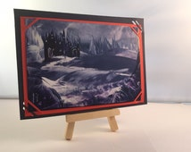 Encaustic art on card with card backing, can be used as birthday card, gift card,  new home card