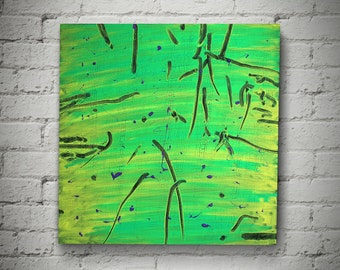 Prey and Predators Abstract Artwork Modern Art Acrylic on Canvas 50x50