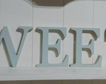 Wooden painted 15 cm high letters