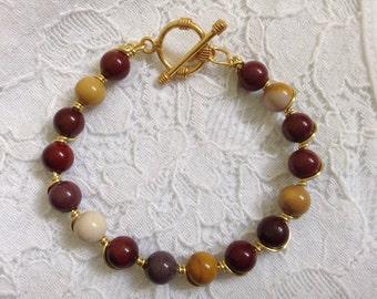 A beautiful Mookite wired bracelet