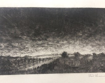 Charcoal Landscape Illustration