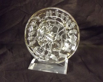 Lalique Plate & Stand