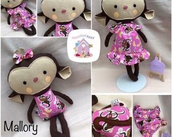 Handmade Mallory Monkey Soft Toy