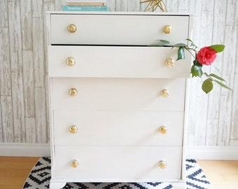 SOLD- Vintage highboy dresser
