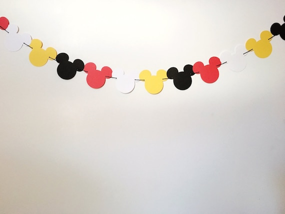 Mickey mouse banner home decor nursery decor party for Mickey mouse home decorations