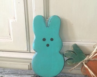 FREE SAME DAY shipping~Rustic Peep Easter Bunnies. Lots of inventory ready to ship out today.