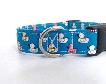 Little Duckies Dog Collar | Boy Dog Collar | Girl Dog Collar | Blue Dog Collar | Pink Dog Collar | Custom Collar | Puppy Collar