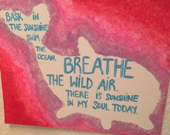 Hand-painted Dolphin Quote Art