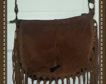1950's era weather shoulder strap era leather shoulder strap purse
