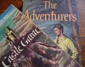 Decorative Vintage Novels 1950s Lot of 2 Hardbacks with Dust Jackets