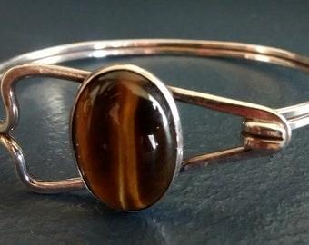 Silver Tiger eye bracelet