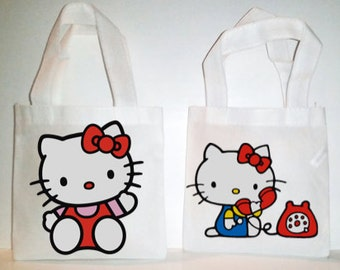 Hello Kitty Themed Party- 10 Favors Bags, Favor Bags, 6'X6' inches