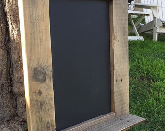 Rustic chalkboard sign