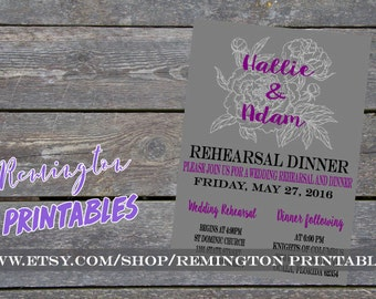 Rehersal Dinner Invitations DIGITAL (Interchangeable Colors)