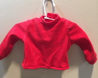 """18"""" Doll Clothes: Red Knit Shirt"""