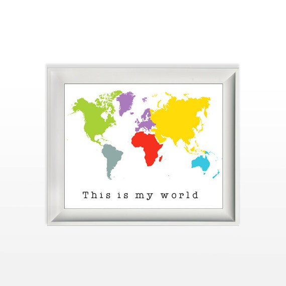 033 this is my world colorful world map modern wall art 033 this is my world colorful world map modern wall art nursery wall print home decor printable 8x10 jpg and pdf file instant download gumiabroncs Images