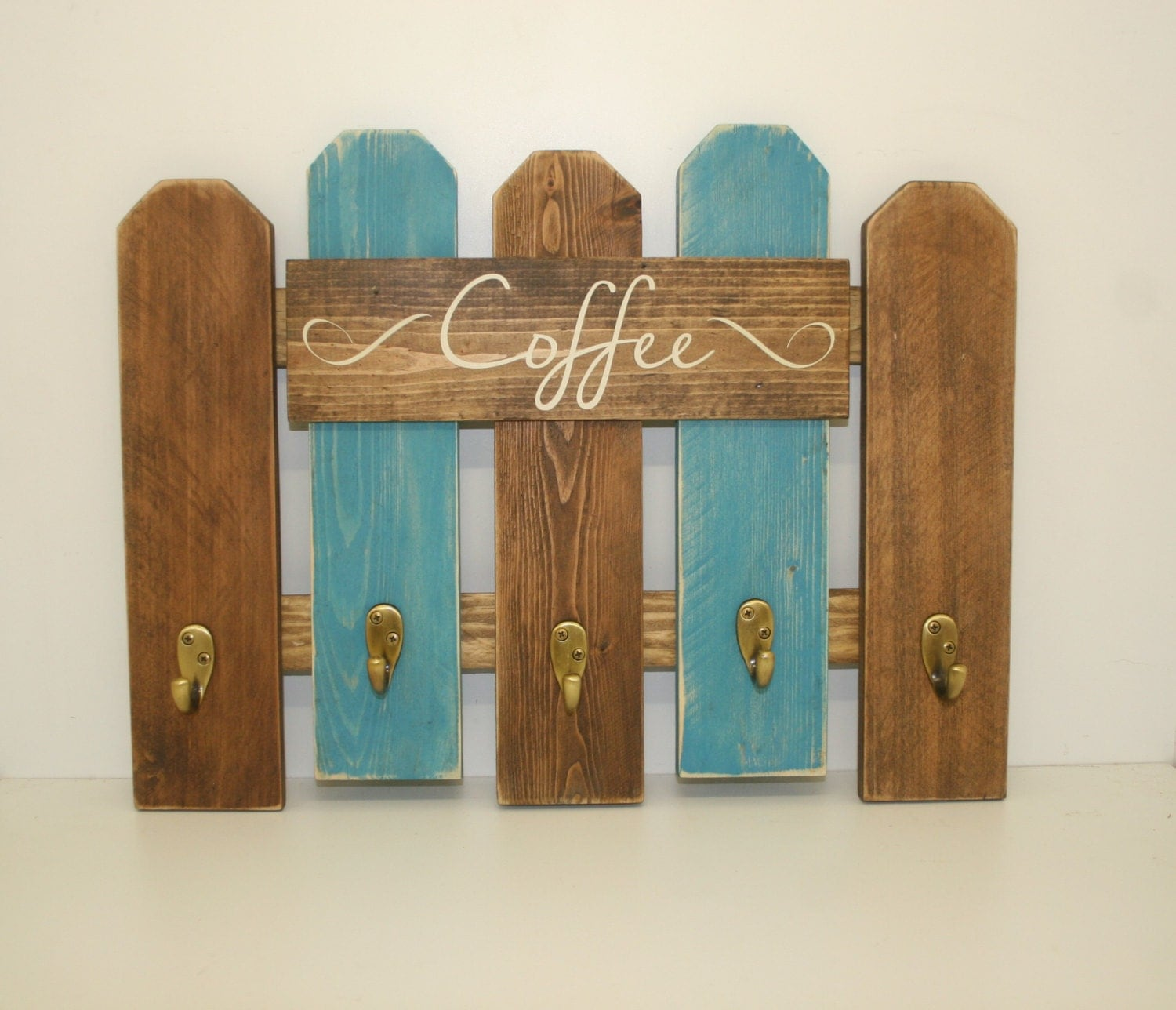 Cowboy Kitchen: Coffee Mug Rack Western Rustic Kitchen Decor Reclaimed