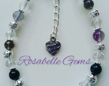 Eating Disorder, Jewellery, Charm Bracelet, Gemstone Bracelet, Anorexia, Bulemia, Gemstone, Recovery, Eating Disorders, Bracelet, Get Well