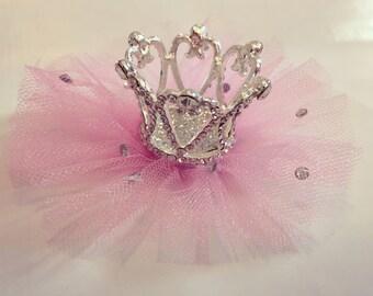 Rhinestone Tulle Crown