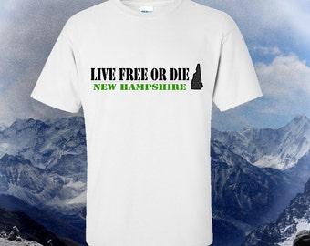 New Hampshire - Live Free or Die tshirt -  NH Souvenir shirt