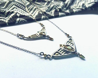 Silver and Gold Wing necklace