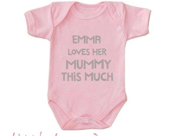 Personalised baby vest, new baby, birthday gifts, boys & girls any colour font