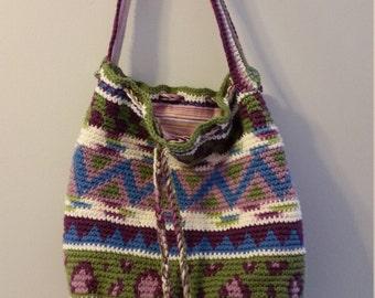 Patterned bogo style bag