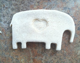 I Love You A Ton- Homemade Salt Dough Elephant