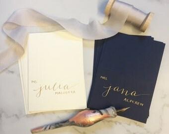 Wedding escort cards etsy calligraphy wedding escort cardsplace cards junglespirit Gallery