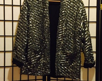 Sparkle and Silver Open Cardigan - Medium