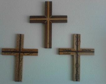 Engraved wooden crosses