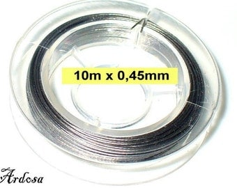 1 coil, 10m wire 0, 45 mm clear Silver (1045.1)