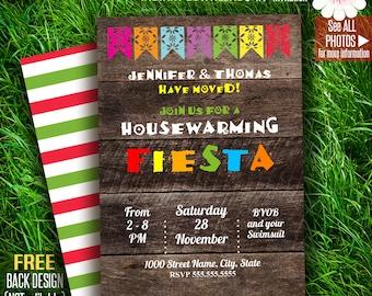 Fiesta invitation, Housewarming party, New home invitation, Printable Self Editable PDF File A165-105