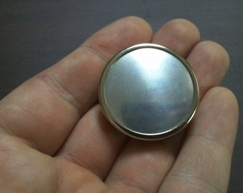 Brooch,Round Pin Setting Frame Mounting, Silver Tone 310S