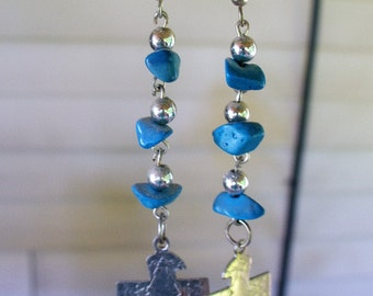 Handmade Silver an Turquoise Earrings