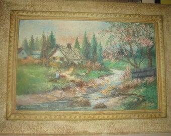 Von Neschke Landscape Oil Painting