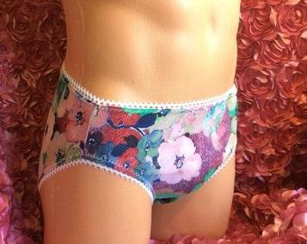 Floral Briefs / Panties Sissy Crossdresser Adult Baby