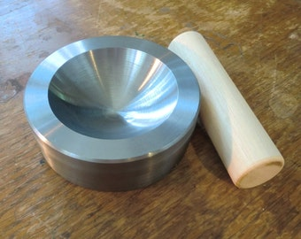 Extra Large Dapping Block for Jewelry making. Your choice of one in 3 sizes 3, 4 or 5 inch radius