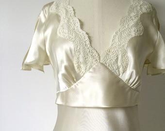 Vintage Retro 1930's Jones New York, Bias-Cut, Champagne-Coloured Gown